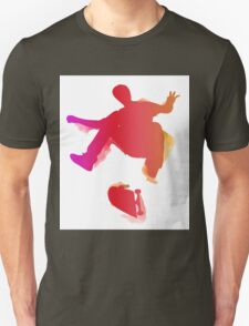 Skateboarder performing a trick Unisex T-Shirt