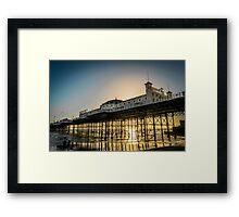 Brighton Pier At Sunset Framed Print