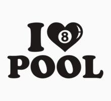 I love Pool billiards Kids Clothes