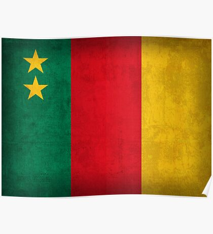 Cameroon Flag Poster