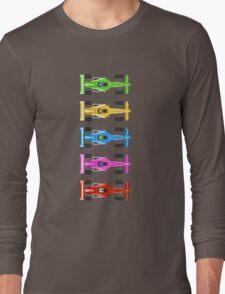 Five Race Cars  Long Sleeve T-Shirt