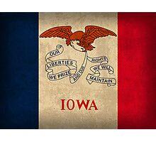 Iowa State Flag Photographic Print