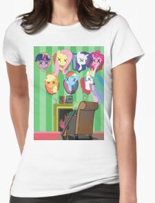 My dead ponnies Womens Fitted T-Shirt