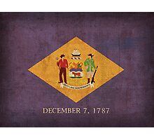 Delaware State Flag Photographic Print