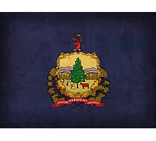 Vermont State Flag Photographic Print