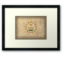 Rhode Island State Flag Framed Print