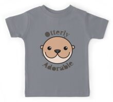 Otterly Adorable - Otter Face Kids Tee