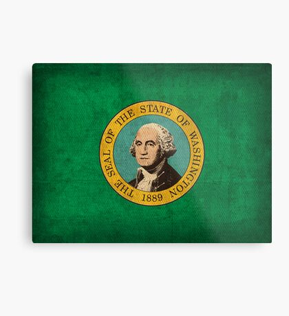 Washington State Flag Metal Print