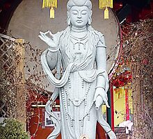 Buddhist Statue at the Temple by Valentino Visentini