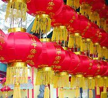 Chinese Red Lanterns by Valentino Visentini