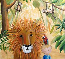 Leo the Lion Acrylic Painting by Kristy Spring-Brown