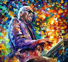 RAY CHARLES by Leonid  Afremov