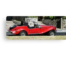The Classic Red Convertible  Canvas Print