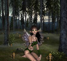Mushroom Land's Fairy by Lisa  Weber