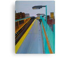 Waiting On A Train Canvas Print