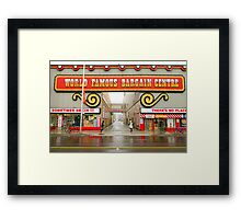 World Famous Bargain Centre Framed Print