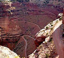 """""""white-knuckle road"""", Utah by Margaret  Hyde"""