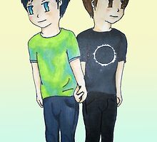 Phil and Dan - Holding Hands by EAMS
