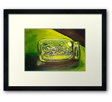 Green Jar Framed Print