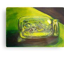 Green Jar Metal Print