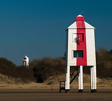 Burnham-on-Sea Lighthouses by Anne Gilbert