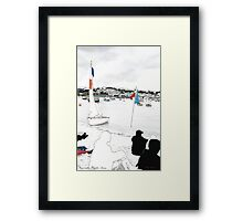 Sailing Regatta- decor, wallart, modern, beach, seaside, water, summer, sand, colour, holiday, sun by hannahglanvill Framed Print