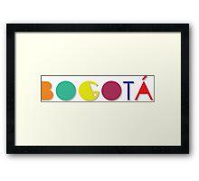 Bogotá - Colombian city (Full color) Framed Print