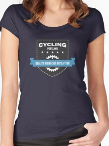 Cycling 365 Days a Year Women's Fitted Scoop T-Shirt