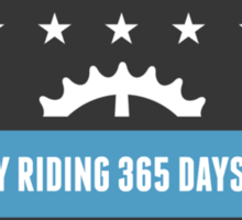 Cycling 365 Days a Year Sticker