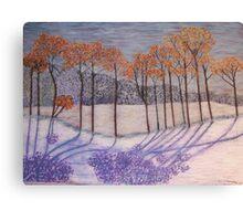 An early snow Canvas Print