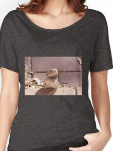 'ERR! SORRY NOT IN THE HOUSE!' Bearded dragon getting pushy. South Australia. Women's Relaxed Fit T-Shirt