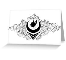 Crater Dust  Greeting Card