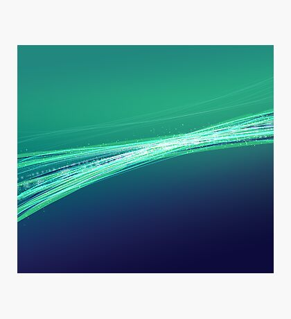 Galactic Green Photographic Print