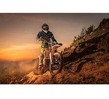 Enduro bike rider Photographic Print