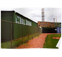 Baseball Field & Bull Durham Sign Poster