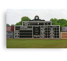 Vintage Baseball Scoreboard Canvas Print