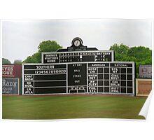 Vintage Baseball Scoreboard Poster