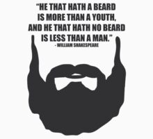 Shakespeare Beard Quote by HarrisonSteele