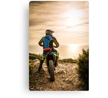 Enduro bike rider Canvas Print