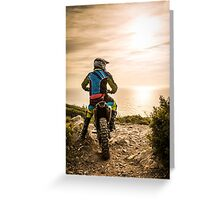 Enduro bike rider Greeting Card