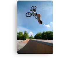 BMX Bike Stunt Back Flip Canvas Print