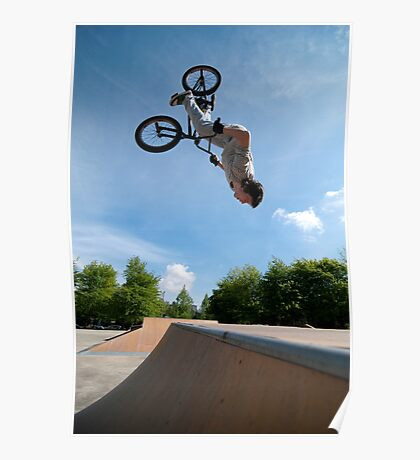 BMX Bike Stunt Back Flip Poster