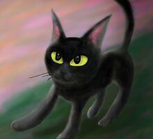 Kitty in riverside by BATKEI