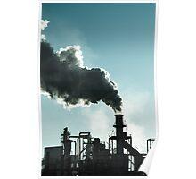 Smoking chimney  at sunset  Poster