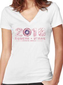Rogers & Stark: 2016 Women's Fitted V-Neck T-Shirt
