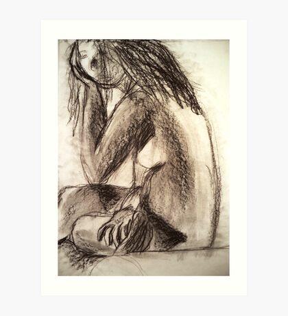 Charcoal Figure Art Print