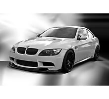 2008 BMW M3 in B &W Photographic Print