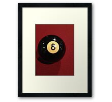 8-Ball Framed Print