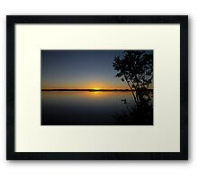 Sunset in the outback Framed Print