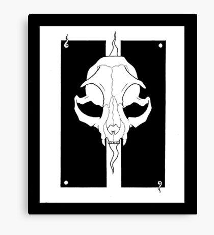 Beasts&Bones- Feline Canvas Print